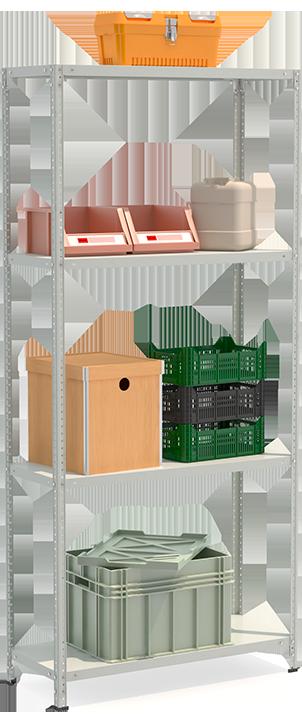 СТФЛ Стеллаж 1044-2.2 металлическая мебель