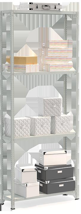 СТФЛ Стеллаж 1034-2.5 металлическая мебель