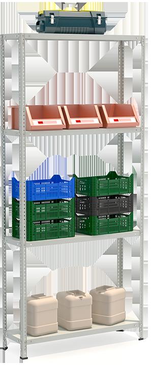 СТФЛ Стеллаж 1034-2.2 металлическая мебель