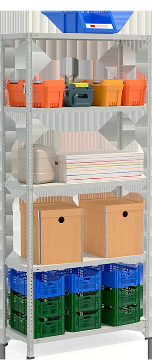 СТФЛ Стеллаж 1045-2.2 металлическая мебель