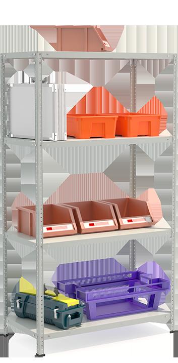 СТФЛ Стеллаж 1054-1.8 металлическая мебель